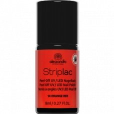 Alessandro StripLac 14 Orange Red Peel-Off UV- / LED-nagellak
