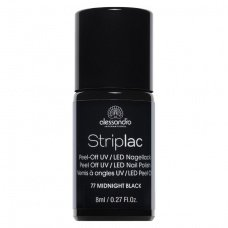 Alessandro StripLac 77 Midnight Black Led Nagellak