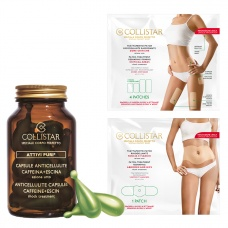 Collistar Pure Actives® Anti-Cellulite Capsules 14st + Gratis Patch Treatment Abdomen And Hips + Patch Treatment Critical Area
