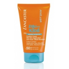 Lancaster Sun Kids Spf 50 Comfort Cream Wet Skin Application