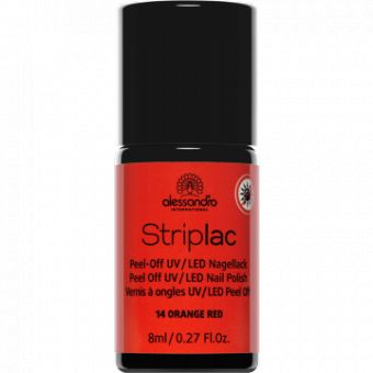Alessandro Alessandro StripLac 14 Orange Red Peel-Off UV- / LED-nagellak