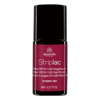 Alessandro Alessandro Striplac 129 Berry Red Led Nagellak